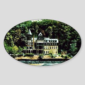 hotel-wahnetah-glen-onoko-pa Sticker (Oval)