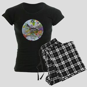 b-17map-round Women's Dark Pajamas