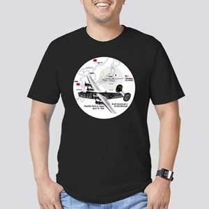 doolittle-raid-white2 Men's Fitted T-Shirt (dark)