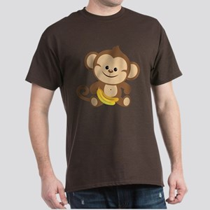 Boy Monkey Dark T-Shirt