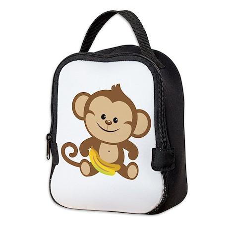 Boy Monkey Neoprene Lunch Bag