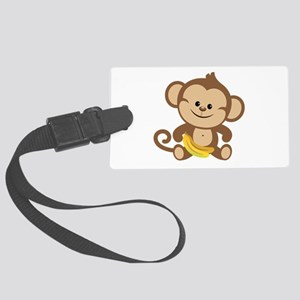 Boy Monkey Large Luggage Tag