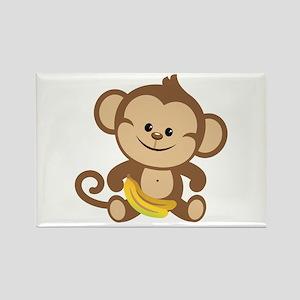 Boy Monkey Rectangle Magnet