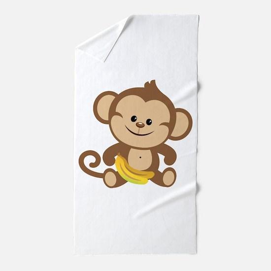Boy Monkey Beach Towel