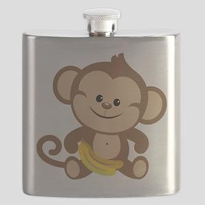 Boy Monkey Flask
