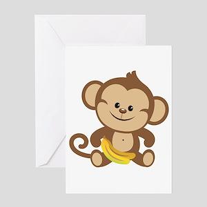 Little monkey greeting cards cafepress boy monkey greeting card m4hsunfo