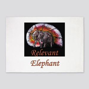 Wild Elephant 5'x7'Area Rug