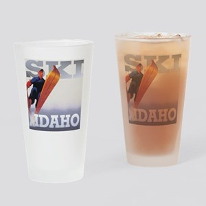 snow2-2000x2000idaho Drinking Glass