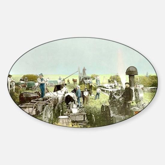 steam-threshers Sticker (Oval)