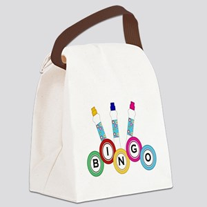 BINGO WITH MARKERS Canvas Lunch Bag