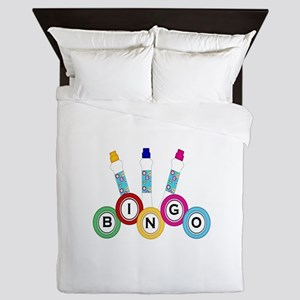 BINGO WITH MARKERS Queen Duvet