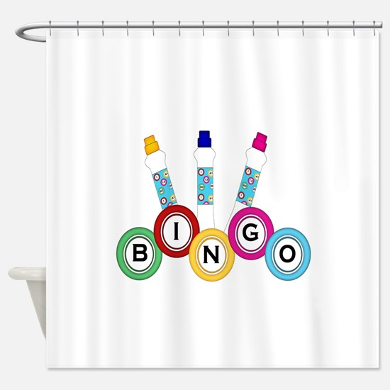 BINGO WITH MARKERS Shower Curtain