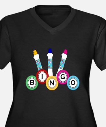 BINGO WITH MARKERS Plus Size T-Shirt