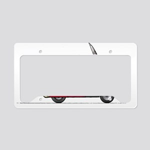 flying-scooter-Red-white1800 License Plate Holder