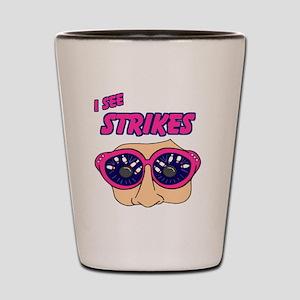 see-strikes-white Shot Glass