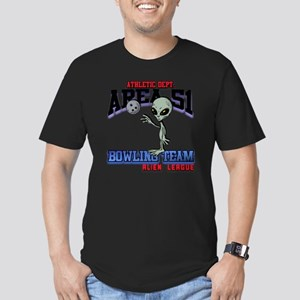 area51-bowling-tean-2- Men's Fitted T-Shirt (dark)