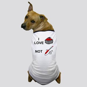 curling-not-curling-white Dog T-Shirt