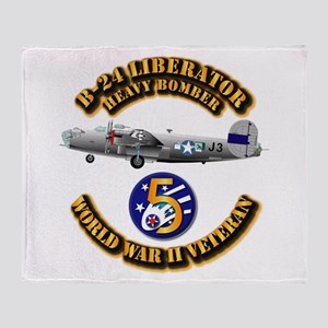 AAC - 22nd BG - 2nd BS - 5th AF Throw Blanket