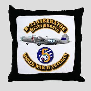 AAC - 22nd BG - 2nd BS - 5th AF Throw Pillow