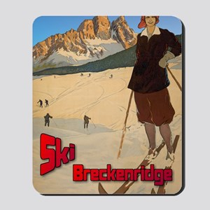 ski-girl-breckenridge Mousepad