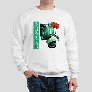 teal-vespa-banner Sweatshirt