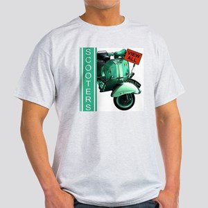 teal-vespa-banner Light T-Shirt