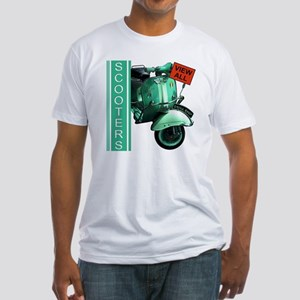 teal-vespa-banner Fitted T-Shirt