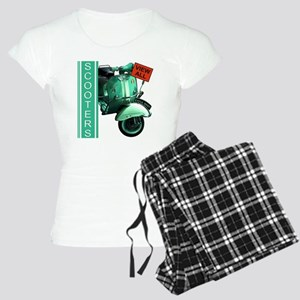 teal-vespa-banner Women's Light Pajamas