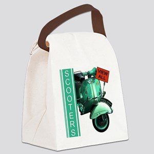 teal-vespa-banner Canvas Lunch Bag