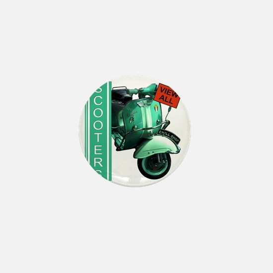 teal-vespa-banner Mini Button