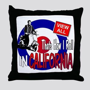 color-how-i-roll Throw Pillow