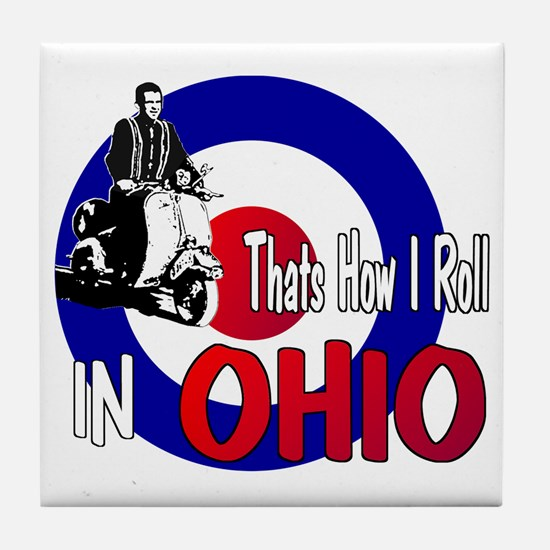 Ohio-color Tile Coaster