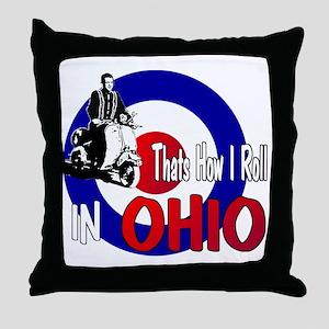 Ohio-color Throw Pillow