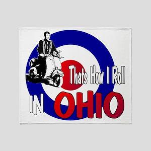 Ohio-color Throw Blanket