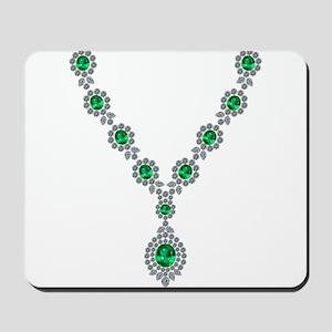 Narrow Emerald Necklace Mousepad