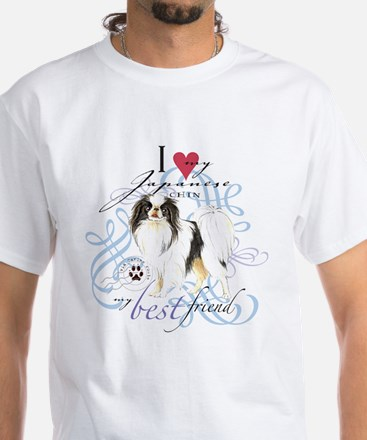Japanese Chin White T-Shirt