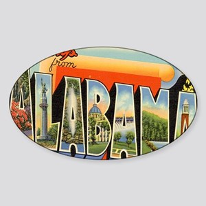 alabama Sticker (Oval)