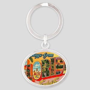 florida1 Oval Keychain