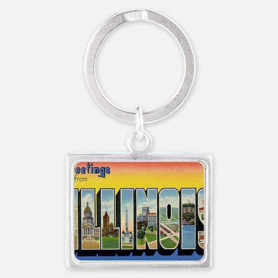 illinois Landscape Keychain