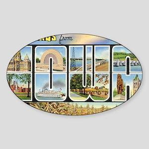 iowa Sticker (Oval)