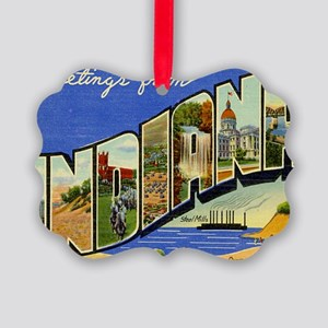 indiana Picture Ornament