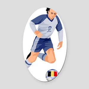 belgiu Oval Car Magnet