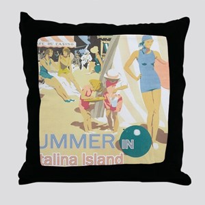 Catalina Island Throw Pillow