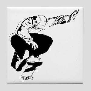 skate1-wht Tile Coaster