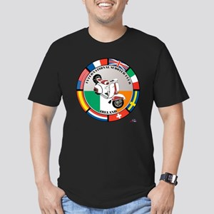 ireland-WHT-scoot Men's Fitted T-Shirt (dark)