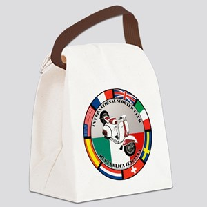 italy-WHT-scoot Canvas Lunch Bag