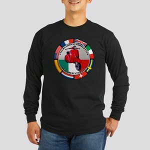italy-RED-scoot Long Sleeve Dark T-Shirt