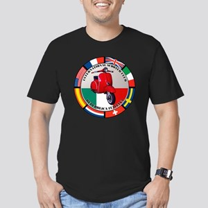 italy-RED-scoot Men's Fitted T-Shirt (dark)