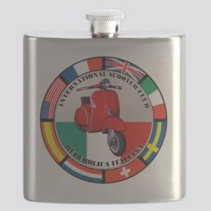 italy-RED-scoot Flask