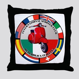 italy-RED-scoot Throw Pillow